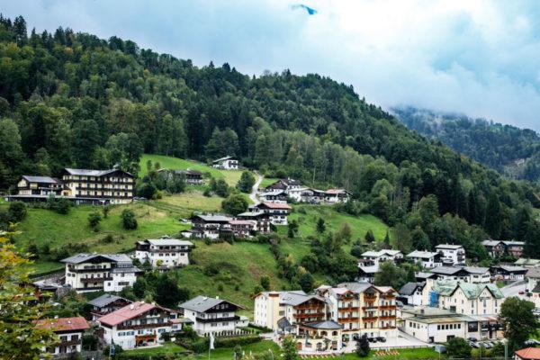 Panomara sulla vallata di Berchtesgaden - Baviera - Germania