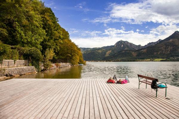 Passerelle sul lago Wolfgangsee