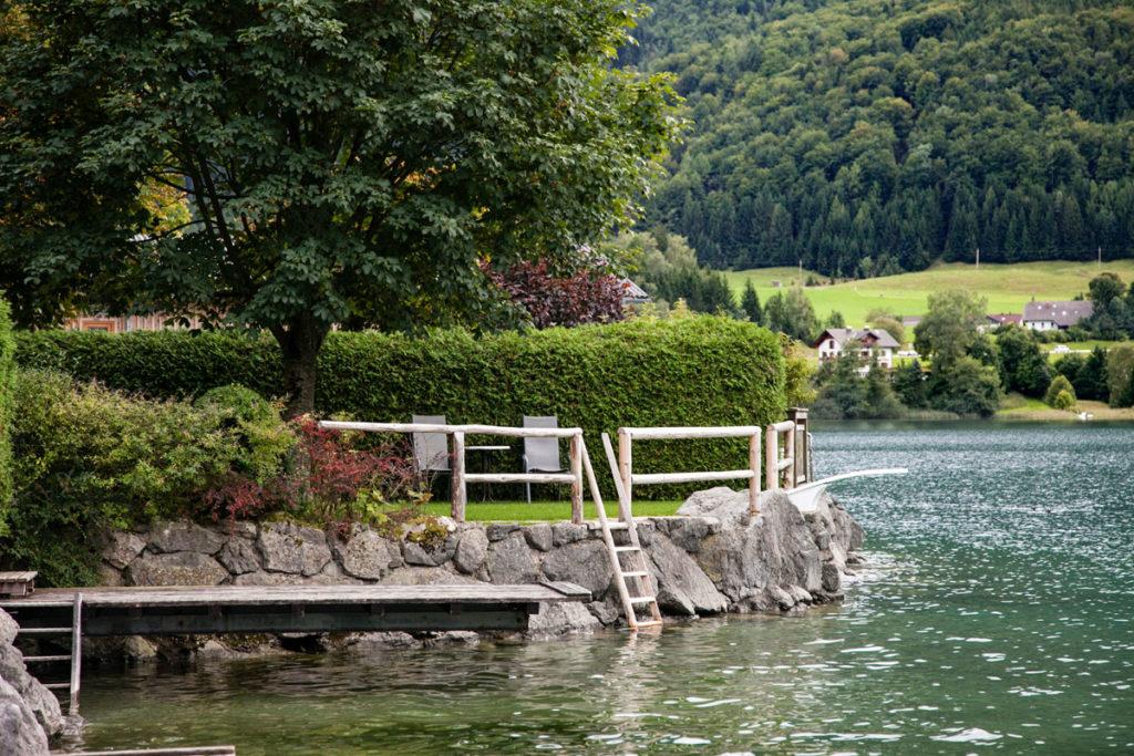 Piccolo porto sul lungolago di Fuschl am See