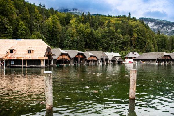 Ricoveri per le Barche sul Konigssee - Lago di Berchtesgaden - Germania Meridionale
