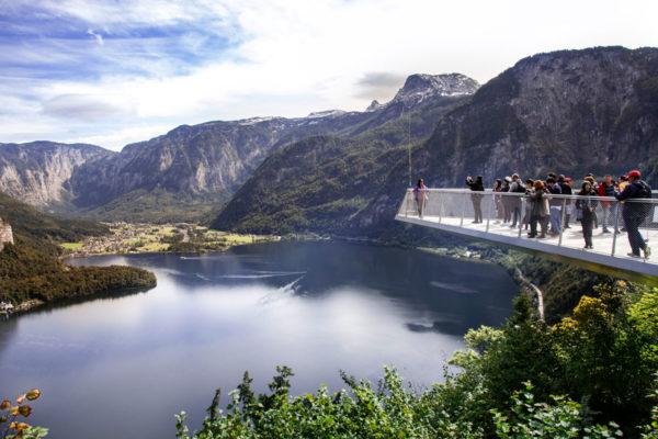 Skywalk - Salita fino al punto di osservazione sul lago Hallstatt