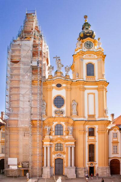Stiftskirche - Facciata Chiesa Barocca interna all'Abbazia di Melk