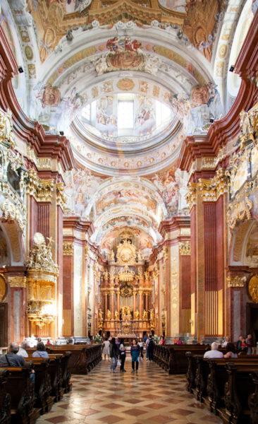 Stiftskirche interna all'Abbazia di Melk