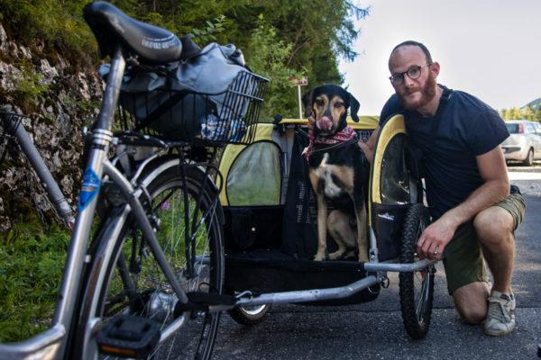 Carrello per Bambini e Cani - Noleggio biciclette