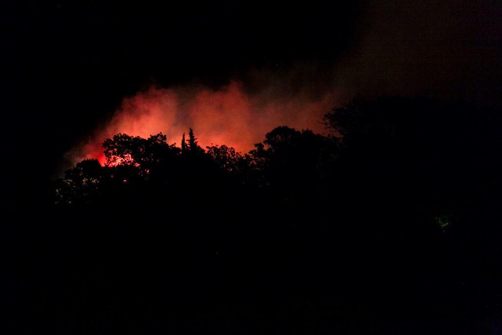 Fuochi Artificiali di fine Palio del Daino - Il Castello va a fuoco
