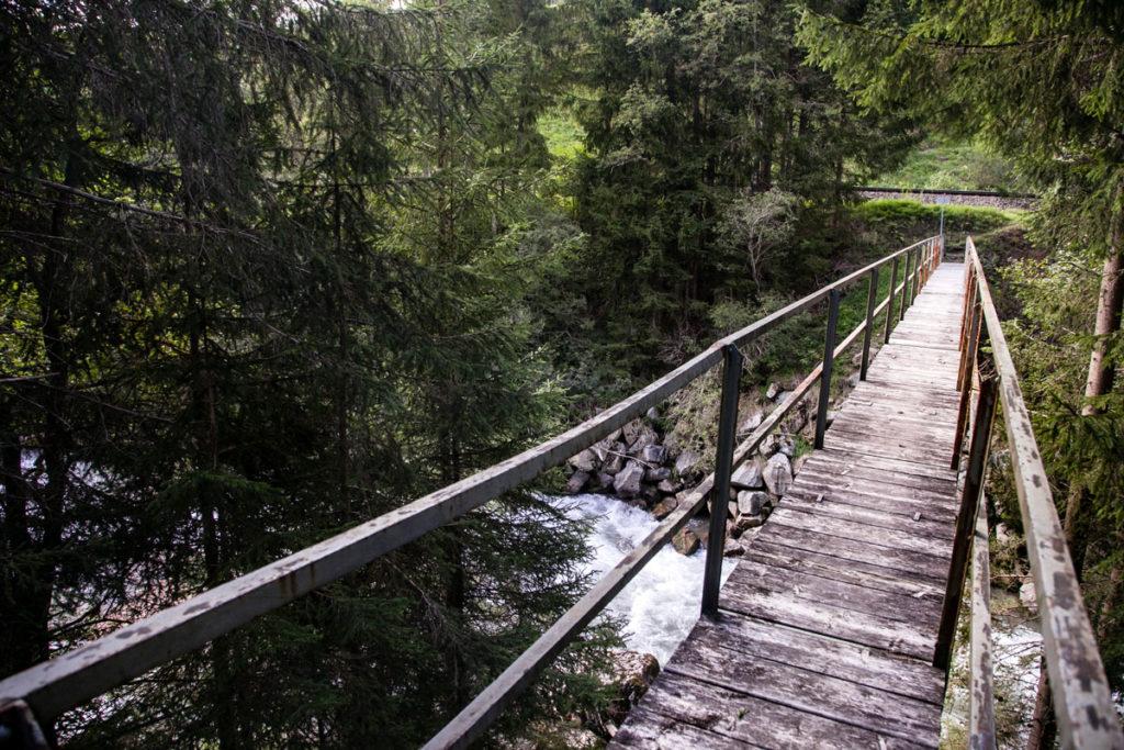Ponte di Legno sul fiume Drava