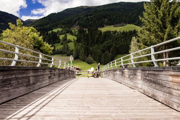 Ponte di Legno sul fiume Drava - Ciclabile San Candido Lienz