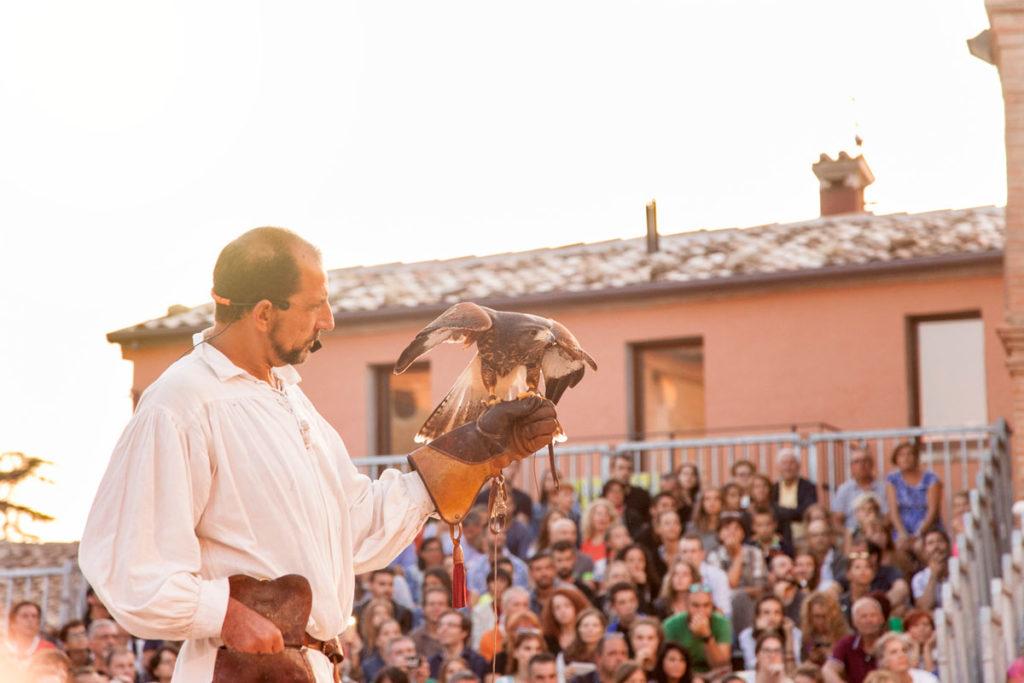 Spettacolo di falconeria in Piazza Maggiore - Mondaino