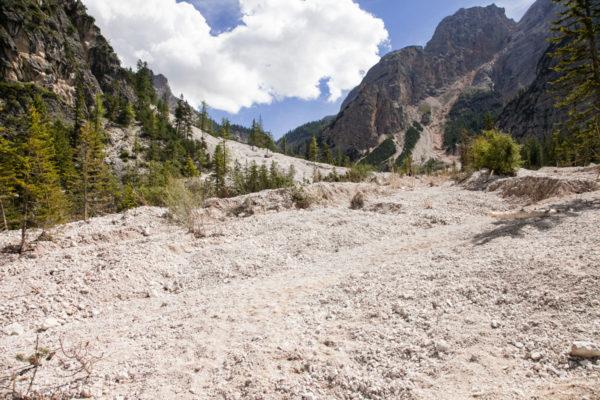 Frana sul lago - Trentino Alto Adige