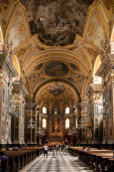 Interni del Duomo di Bressanone - Navata
