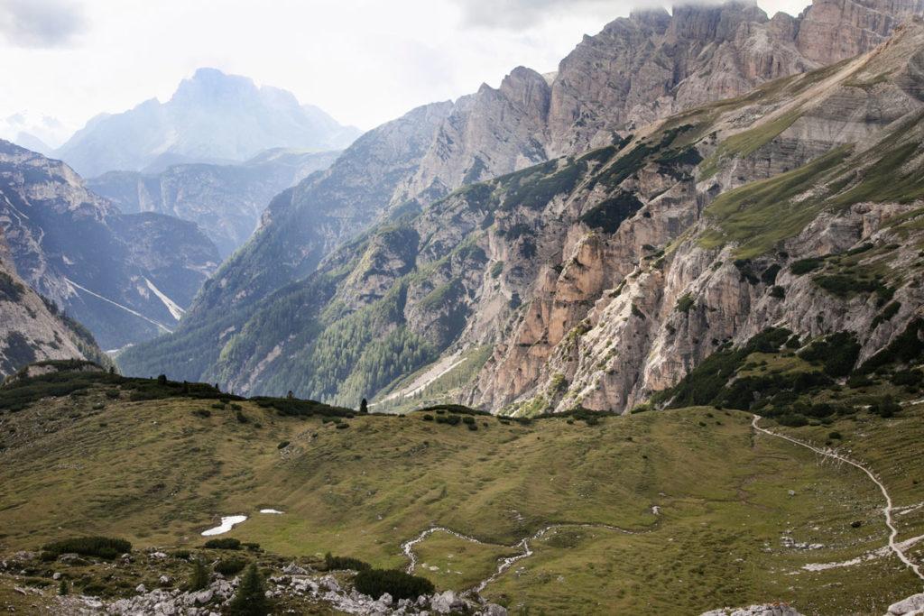 Laghi e panorama alpino