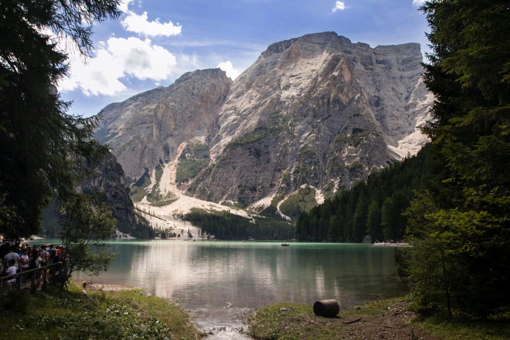 Lago di Braies e Monte Croda del Becco