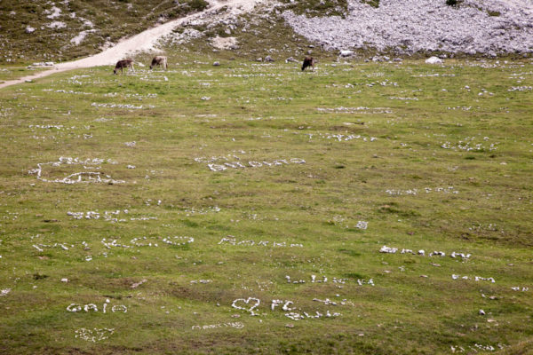 Messaggi con i sassi - Dolomiti