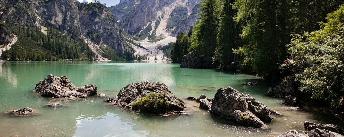 Panorama del Lago di Braies - Perla delle Dolomiti - Bolzano