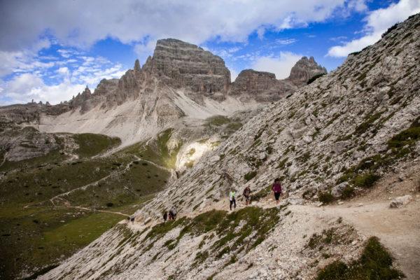 Panorama sul monte Paterno e la Cresta del Camoscio
