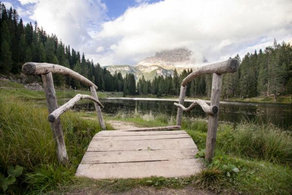 Passerella in Legno sul lago Antorno - Belluno