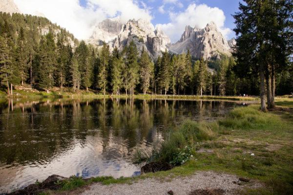Tramonto sul lago Antorno