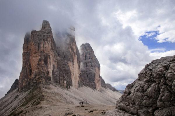 Tre cime del Lavaredo a 3000 metri sul livello del mare