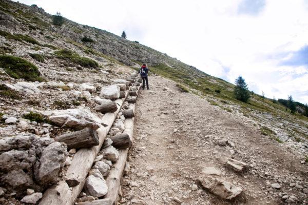 Trekking in salita
