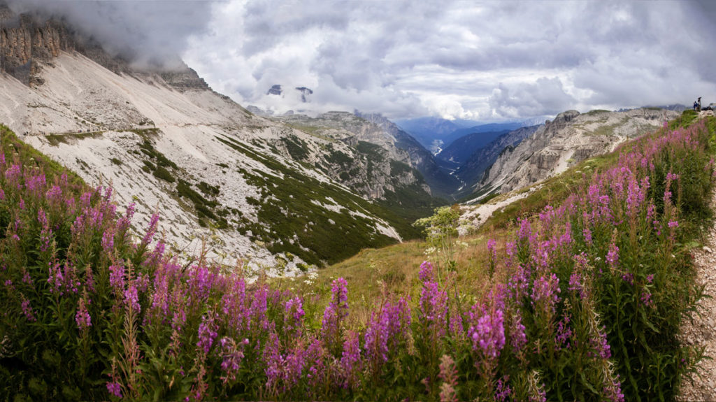 Valle dalle Tre Cime del Lavaredo - Riugio Auronzo