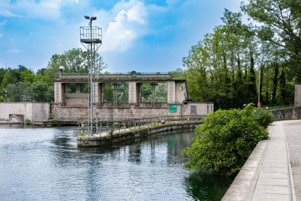 Centrale idroelettrica di Trezzo sull'Adda - Sbarramento