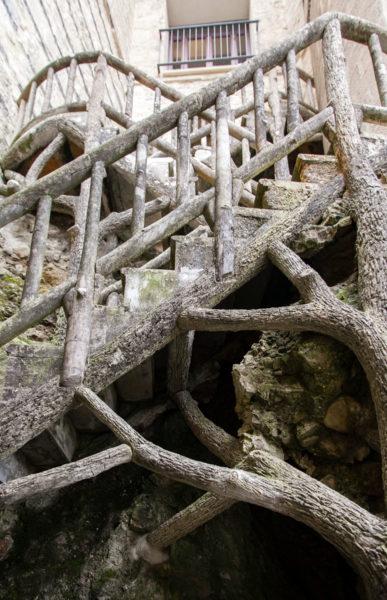 Corrimano in cemento simil legno