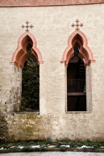 Finestre dove si trovava fontana con Cascata