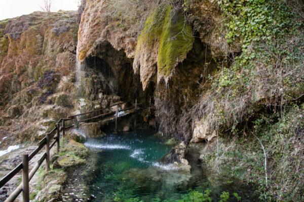 Laghetto nella Cascata della sorgente di Labante