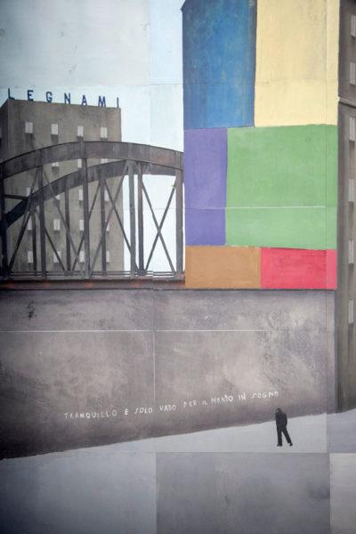 Particolare di Milano Lambrato nella foto della città Infinita - Paolo Ventura