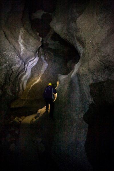 Percorso della visita guidata nelle grotte dei pipistrelli