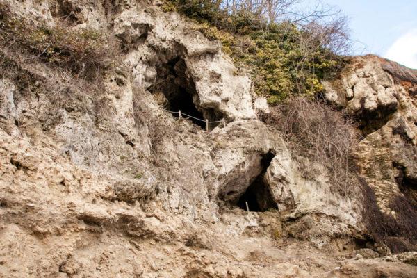 Percorso dentro le grotte di Labante