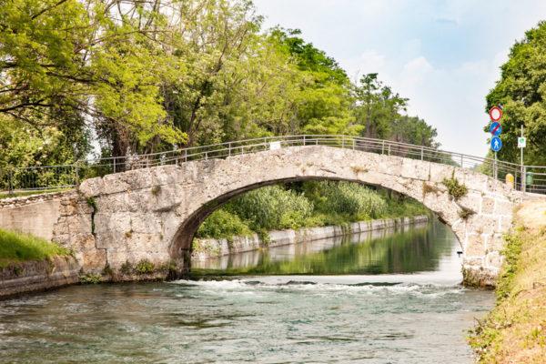 Ponte in pietra a Cassano d'Adda