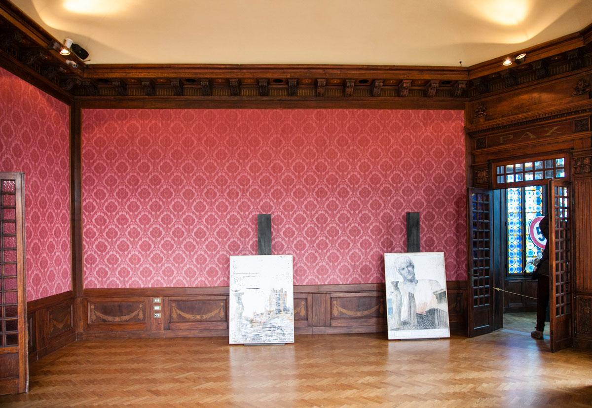 Sala della Pace con installazioni di Arte Contemporanea