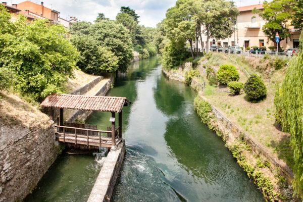 Sistema per far confluire le acque del naviglio dal fiume Adda - Groppello a Cassano d'Adda