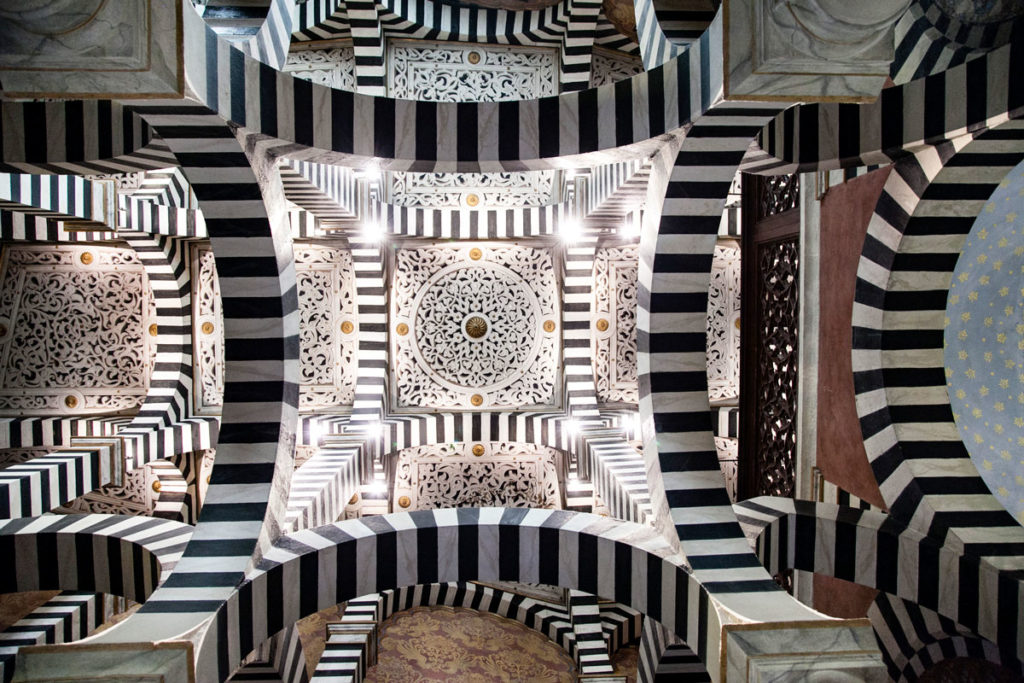 Soffitto disegnato della rocchetta mattei - Grizzani Morandi