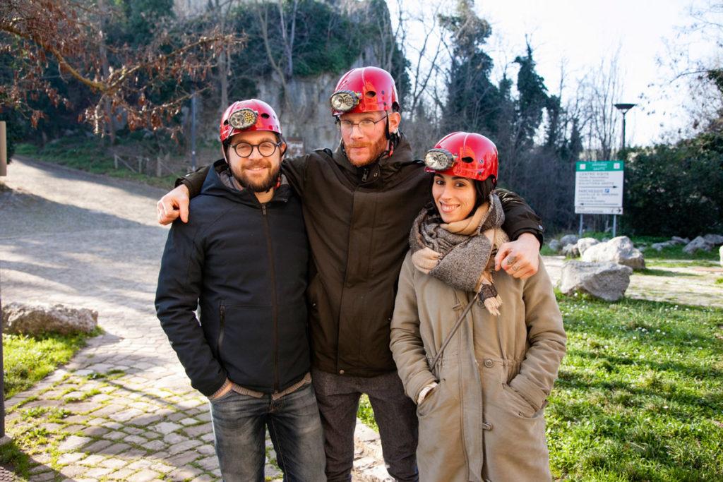 Speleologi pronti per le grotte