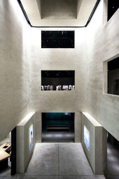 Vista sui piani di Armani Silos - Arte Contemporanea a Milano