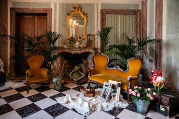 Allestimento del Gispy Garden dentro a Villa Des Vergers - Rimini