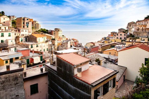 Panorama sul borgo di Riomaggiore