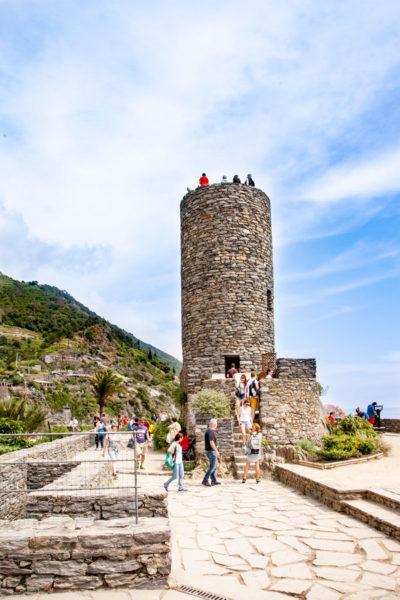 Torre del Castello Doria - Panorama su Vernazza
