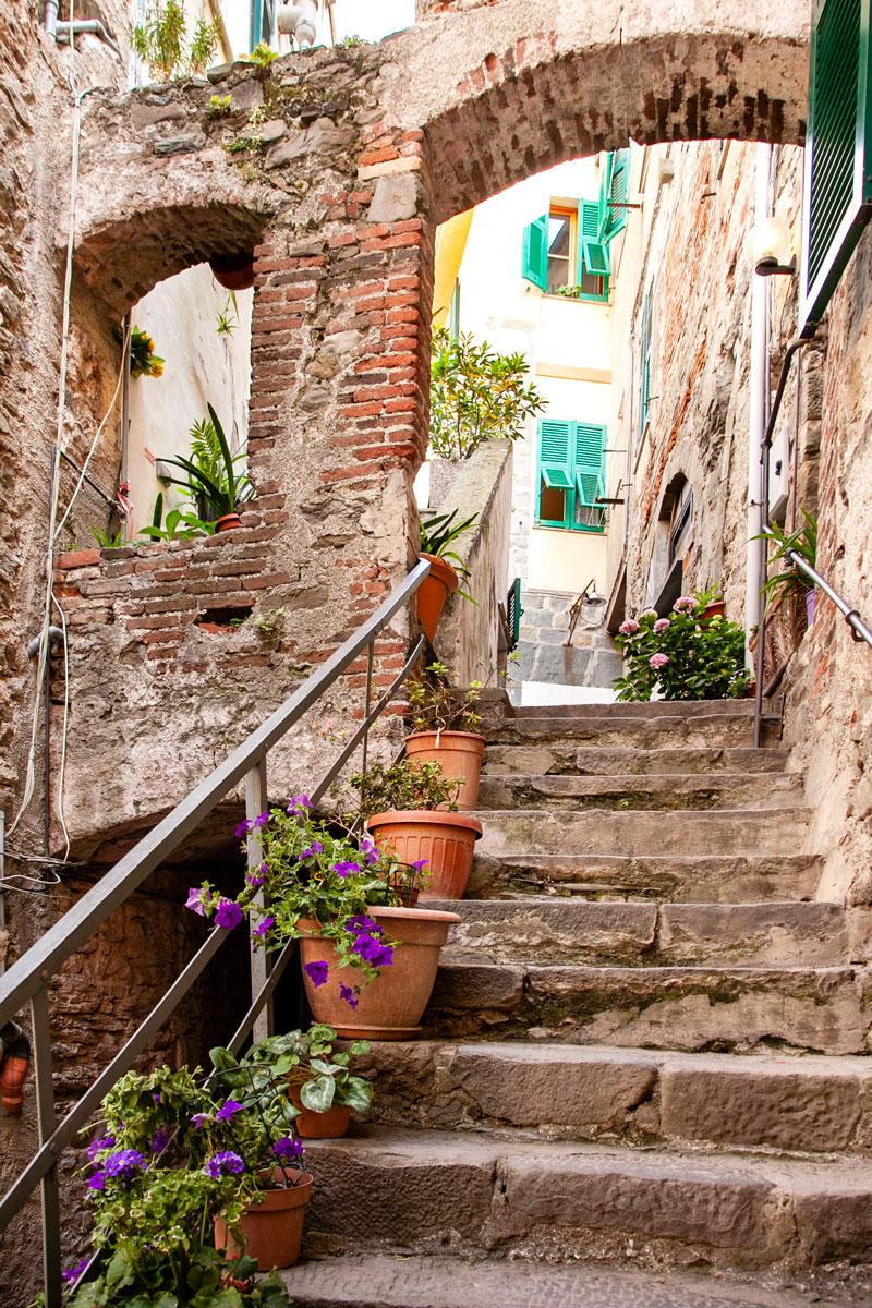 Vicoli del Centro Storico di Corniglia - Le Cinque Terre