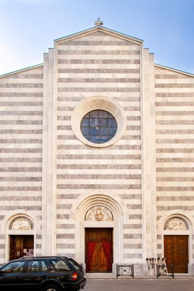 Facciata della Chiesa di Santa Maria Assunta - La Spezia