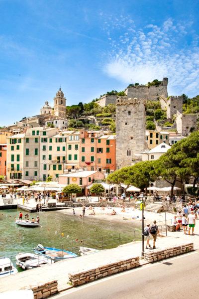 Lungomare - Palazzata a Mare - Campanile di San Lorenzo e Castello Doria - Portovenere