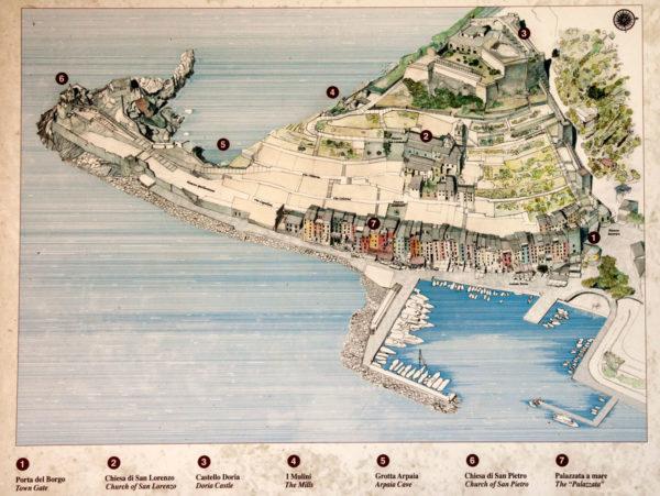 Mappa di Cosa Vedere a Portovenere - Liguria