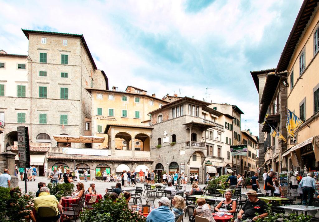 Piazza della Repubblica di Cortona - Toscana