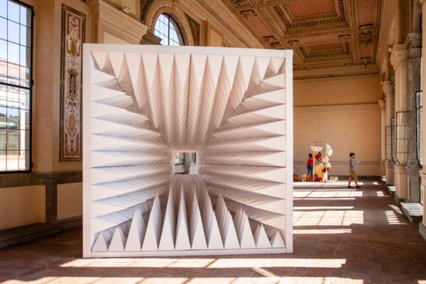 Wu Wai Chung - No More Message - Installazione al Lucca Paper Art Design