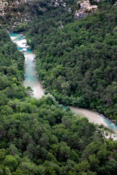 Alberi e corso del fiume Verdon - Francia del Sud - Provenza e Costa Azzurra