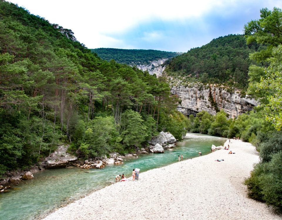Area Naturale tra le montagne della Francia del Sud