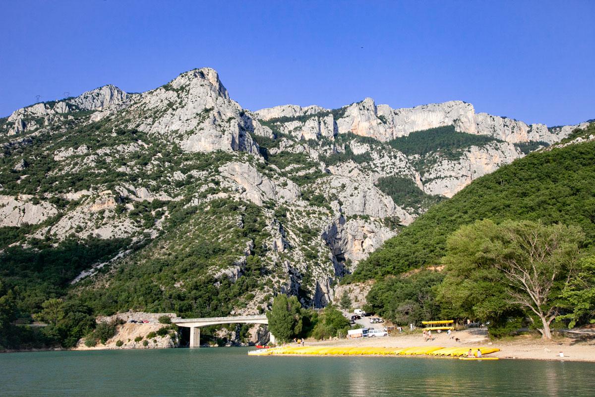 Bacino artificiale del Lago di Sainte Croix - Sbarramento del fiume Verdon