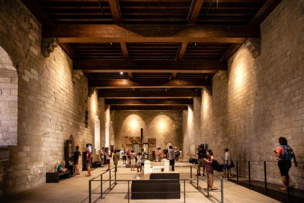Dentro al Vieux Palais del Palazzo dei Papi di Avignone